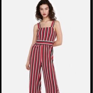 Express Jumpsuit Stripe Black Red White